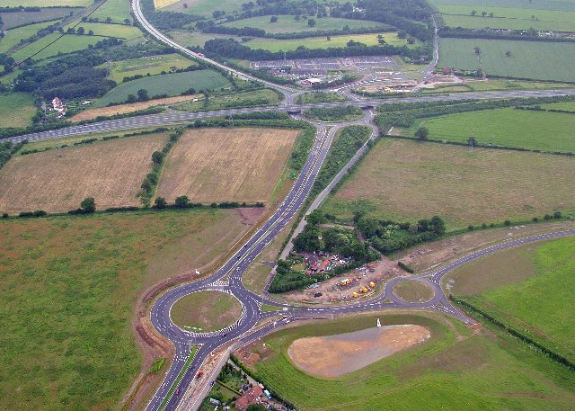Thickthorn Interchange - geograph.org.uk - 73633