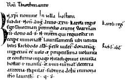 Thiotmann Ersterwähnung Höchst 790