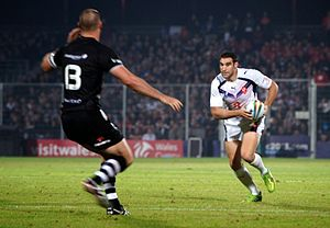 2013 Rugby League World Cup - France vs New Zealand at Parc des Sports, Avignon. New Zealand won 48–0.