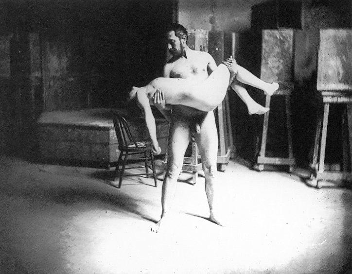 Thomas eakins carrying a woman.jpeg