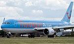 Thomsonfly Boeing 767-300 at Leeds Bradford Airport (Taken by Flickr user 9th June 2011).jpg