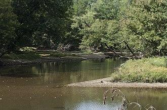 Alum Creek (Ohio) - Image: Three Creeks Alum Creek joining Big Walnut Creek 1