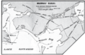 Three proposed routes for a short canal connecting the Bay of Quinte with Lake Ontario, 1868.png