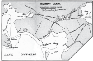 Murray Canal - In 1868 three routes were under consideration.