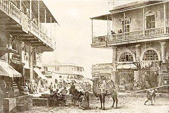 Azerbaijanis in Georgia - Azerbaijani quarter of Tbilisi, 1870