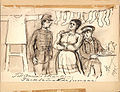 Till Anna i skänken. Tacksamma lärljungar. Strumpor 1895. Fritz von Dardel - Nordiska Museet - NMA.0035977.jpg
