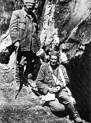 Ivan Ribar - Ivan Ribar (left) and Partisan commander Tito during the Battle of the Sutjeska