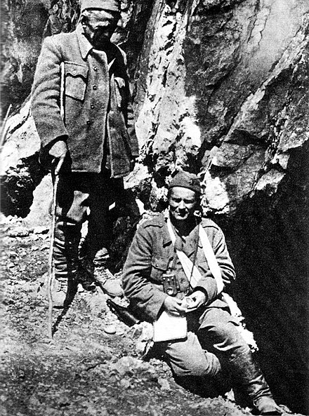 Tito and Ivan Ribar at Sutjeska in 1943 Tito and Ivan Ribar in 1943.jpg
