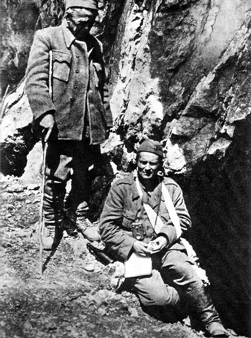 Tito and Ivan Ribar at Sutjeska in 1943