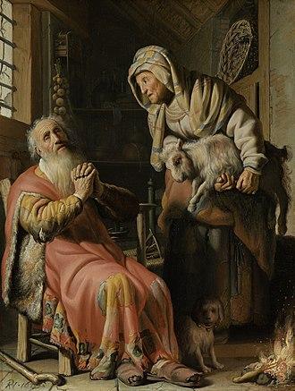 Rembrandt catalog raisonné, 1968 - Image: Tobit en Anna met het bokje Rijksmuseum SK A 4717