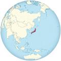 Tokugawa shogunate of Japan on the globe (de-facto) (Japan centered).png