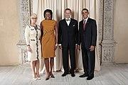 Toomas Hendrik with Obamas