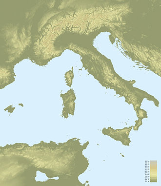 Outline of Italy - An enlargeable topographic map of Italy