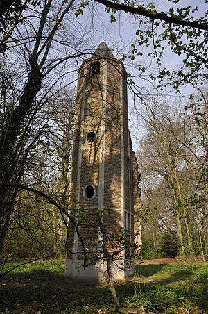 Gentbrugge - Image: Toren kasteel Vilain Rattendaelepark 13 04 2010 14 55 34