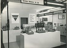 The Torsion Balance booth taking part at a weighing trade show Torsion Balance Stand - Weighing Trade Show.jpg