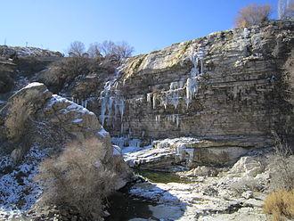 Tortum Waterfall -  Tortum Waterfall in February