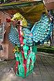 Totem, Mexican eagle, entrance of Museo Arqueológico de Xochimilco, Ciudad de Mexico, Mexico City.jpg