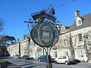 Northleach - Market place and town sign