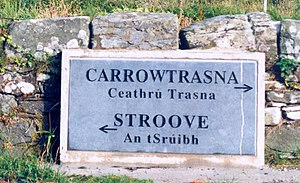 Townland - A (rare) townland boundary marker in Inishowen, County Donegal.