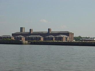 Trafalgar Dock - Trafalgar Dock apartments seen from across the River Mersey