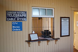 Canadian National Railway - Restored CN Telegraph counter on display at the Saskatchewan Railway Museum