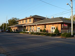 Slidell, Louisiana - The train station in downtown Slidell