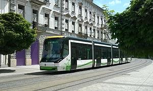 Škoda ForCity - Image: Tram In Miskolc 2015 02