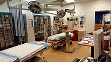 A trauma bay at Kings County Hospital Center in Brooklyn, NY