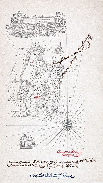 Treasure Island - Stevenson's map of Treasure Island