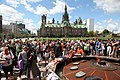 Tributes to Jack Layton at the eternal flame on Parliament Hill (3).jpg