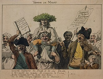 Timeline of the French Revolution - The triumph of Marat after his release from arrest