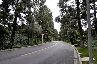 Trousdale Estates - Loma Vista Drive from the corner of Chalette Drive, looking north.