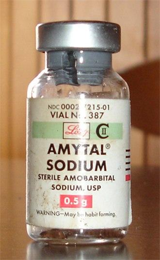 Amobarbital - A vial of amytal sodium