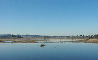 Tualatin River National Wildlife Refuge - Area in late winter