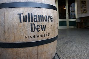 Tullamore Dew - A cask bearing the Tullamore Dew brand