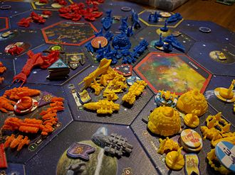 Twilight Imperium - Game-play largely centres around units and their interactions on a hex-based map