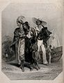 Two black women and a boy in elegantly draped costume are le Wellcome V0047998.jpg