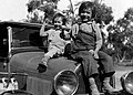 "Two bonnie Australians, Wilcannia, NSW, between 1935-1937 - photographer Reverend Edward (""Ted"") Alexander Roberts (6151313269).jpg"