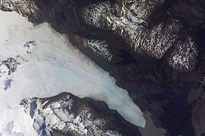 Tyndall Glacier (Chile) - As photographed from the International Space Station.