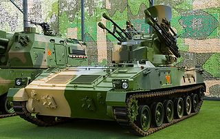 Type 95 SPAAA Self-propelled anti-aircraft gun/missile system