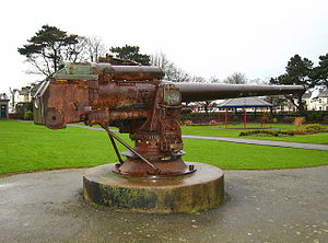 10.5 cm SK L/45 naval gun - Image: U 19 gun Ward Park Bangor right view geograph.org.uk 646194 8c 3d 0bd 1 by Ross