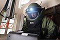 U.S. Navy Explosive Ordnance Disposal 3rd Class Preston Lee, assigned to Explosive Ordnance Disposal Mobile Unit (EODMU) 3, prepares to X-ray a mock improvised explosive device during a training exercise in San 130509-N-FN215-866.jpg