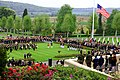 U.S. and French service members participate in a Memorial Day ceremony May 26, 2013, at the Aisne-Marne American Cemetery and Memorial in Belleau, France 130526-M-XI134-015.jpg