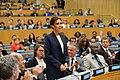 UNAIDS International Goodwill Ambassador Victoria Beckham Addresses the Ending AIDS by 2030 Event, September 2014.jpg