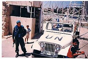 """מוצב של יוניפי""""ל ליד הכפר א-טייבה בלבנון"""