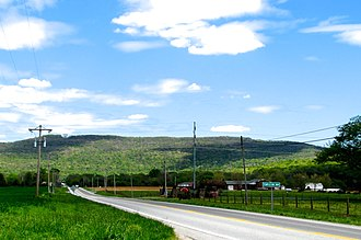 Franklin County, Tennessee - US 41A approaching the Cumberland Plateau near Cowan