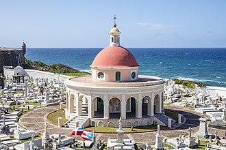 Santa María Magdalena de Pazzis Cemetery - View of western part of cemetery overlooking the Atlantic Ocean