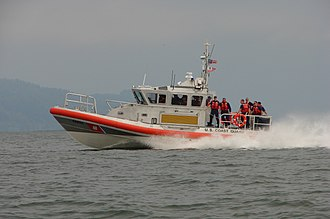 Response Boat – Medium - 45602 underway at Cape Disappointment, Washington. August 7, 2008