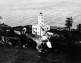 Phare des îles Five Finger en 1935