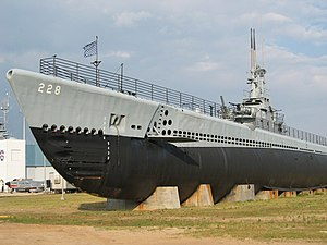 USS Drum (SS-228) on display as a museum ship